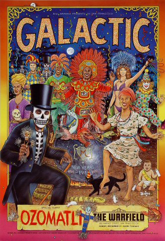 "Galactic Poster from Warfield Theatre on 31 Dec 00: 13"" x 19"""