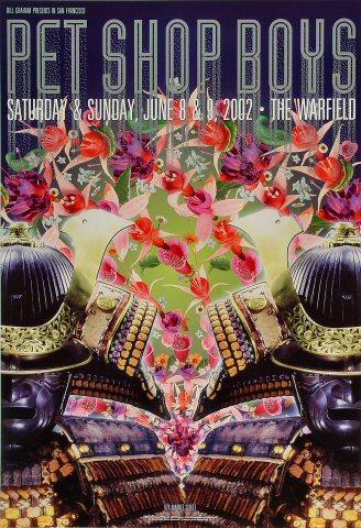 "Pet Shop Boys Poster from Warfield Theatre on 08 Jun 02: 13"" x 19"""