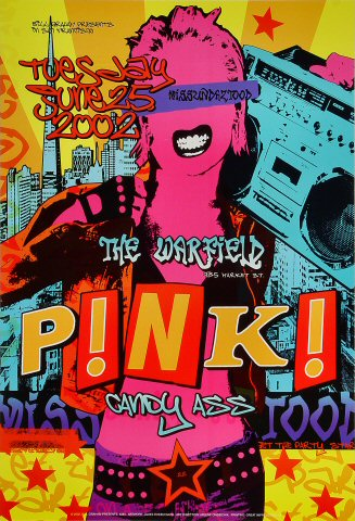 "Pink Poster from Warfield Theatre on 25 Jun 02: 13"" x 19"""