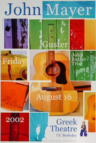 "John Mayer Poster from Greek Theatre on 16 Aug 02: 13"" x 19"""