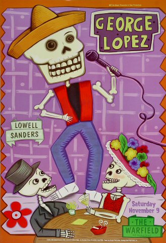 "George Lopez Poster from Warfield Theatre on 09 Nov 02: 13"" x 19"""