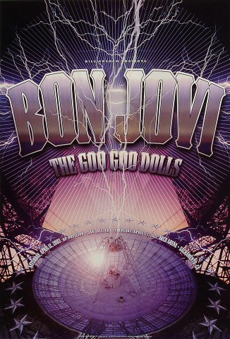 "Bon Jovi Poster from HP Pavilion on 12 Apr 03: 13"" x 19"""