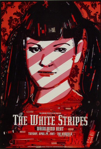 The White Stripes Poster from Warfield Theatre on 29 Apr 03: 13&quot; x 19&quot;