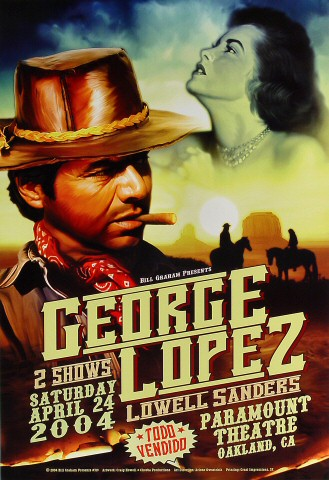 "George Lopez Poster from Paramount Theatre on 24 Apr 04: 13"" x 19"""