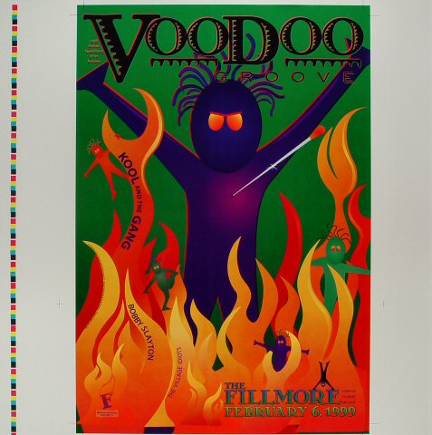 "Kool & The Gang Proof from Fillmore Auditorium on 06 Feb 99: 20 1/2"" x 20 1/2"""