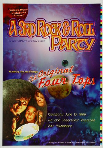 """The Four Tops Proof from Fillmore Auditorium on 10 Jun 99: 14"""" x 20"""""""