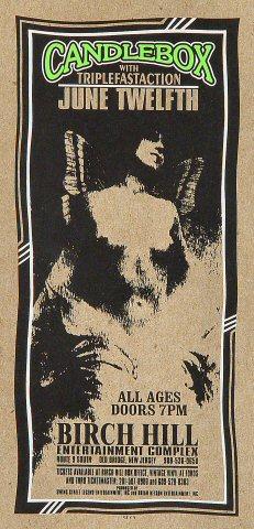 """Candlebox Handbill from Birch Hill Entertainment Complex on 12 Jun 96: 4 3/16"""" x 8 1/2"""""""