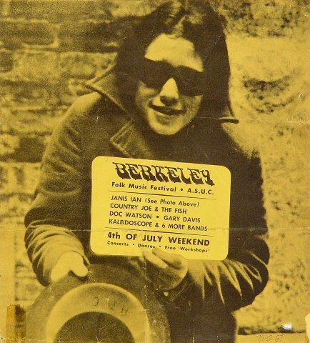 "Janis Ian Handbill from Berkeley on 30 Jun 67: 8 1/4"" X 9 1/4"""