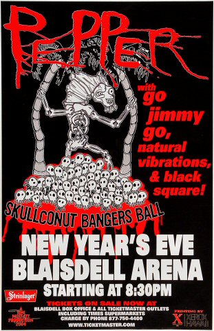 "Pepper Poster from Blaisdell Arena on 31 Dec 04: 11"" x 17"""