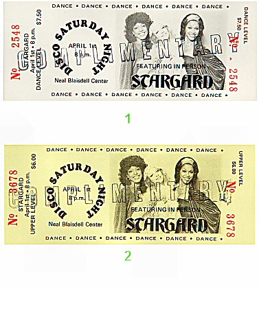Stargard 1970s Ticket from Blaisdell Arena on 01 Apr 78: Ticket One