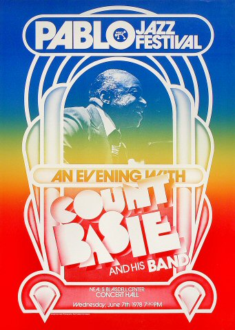 "Count Basie and His Orchestra Poster from Blaisdell Arena on 07 Jun 78: 17 1/4"" x 24 1/4"""