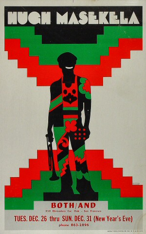 "Hugh Masekela Poster from Both And on 26 Dec 67: 13 7/8"" x 22 1/16"""