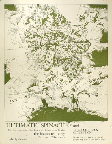 """Ultimate Spinach Poster from Boston Tea Party on 12 Jan 68: 17 1/2"""" x 22 1/2"""""""