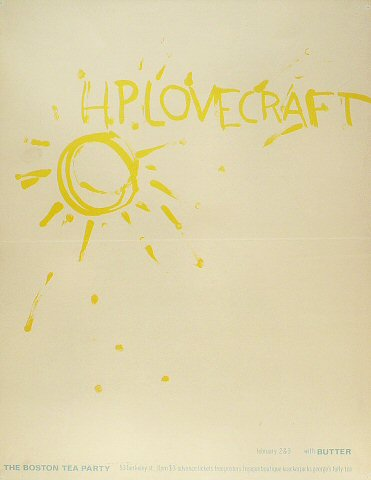 "H.P. Lovecraft Poster from Boston Tea Party on 02 Feb 68: 17 1/2"" x 22 1/2"""