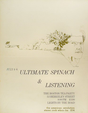 """Ultimate Spinach Poster from Boston Tea Party on 04 Jul 68: 17 1/2"""" x 22 1/2"""""""