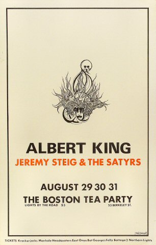 "Albert King Poster from Boston Tea Party on 29 Aug 68: 11 1/4"" x 17 1/2"""