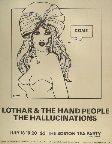 "Lothar and the Hand People Poster from Boston Tea Party on 18 Jul 69: 17"" x 21 15/16"""
