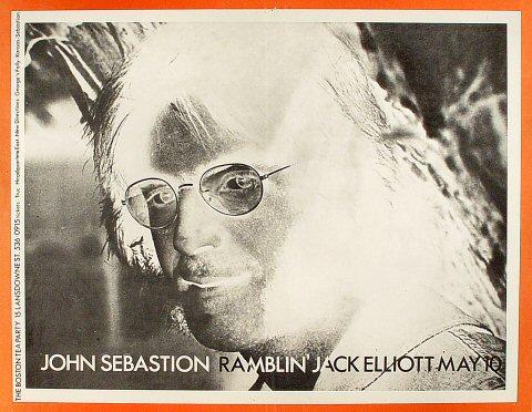 """John Sebastian Poster from Boston Tea Party on 10 May 70: 16 1/4"""" x 20 3/4"""""""