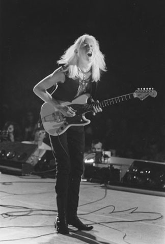 Johnny Winter Fine Art Print from Overton Park Shell : 11x14 SG Matted & Signed