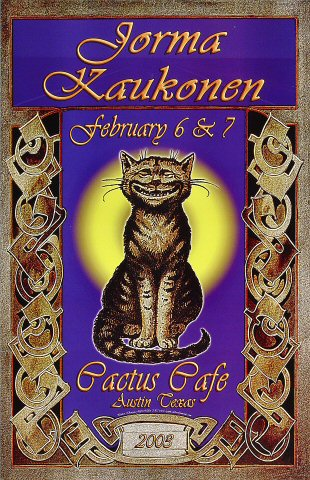 "Jorma Kaukonen Poster from Cactus Cafe on 06 Feb 03: 11"" x 17"""