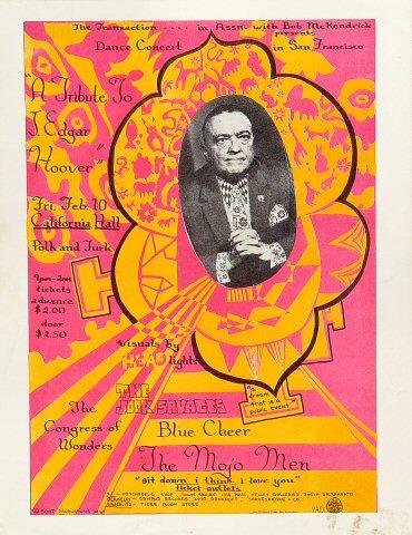 "The Mojo Men Handbill from California Hall on 10 Feb 67: 8 1/2"" x 11"""