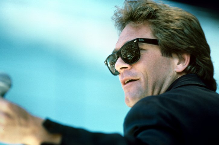 Huey Lewis BG Archives Print from Calaveras County Fairgrounds on 20 Jun 87: 11x14 C-Print