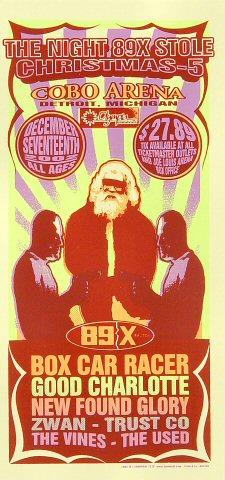 "Box Car Racer Handbill from Cobo Arena on 17 Dec 02: 4 1/4"" x 8 5/8"""