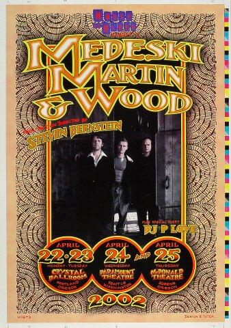 "Medeski Martin & Wood Proof from Crystal Ballroom on 22 Apr 02: 14"" x 20"""