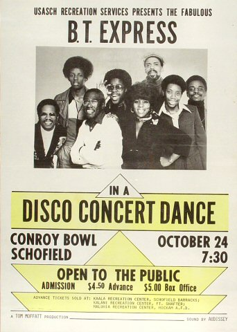 "B.T. Express Poster from Conroy Bowl on 24 Oct 76: 10"" x 14"""