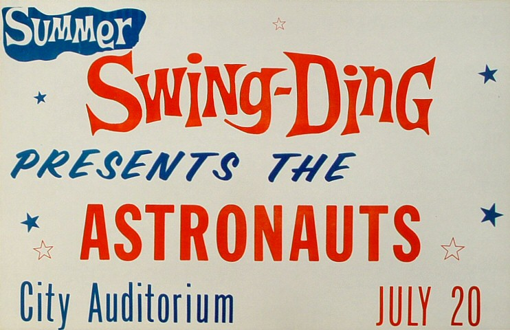"Astronauts Poster from City Auditorium on 20 Jul 66: 11"" x 17"""