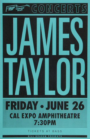 "James Taylor Poster from Cal Expo Amphitheater on 26 Jun 92: 11"" x 17"""