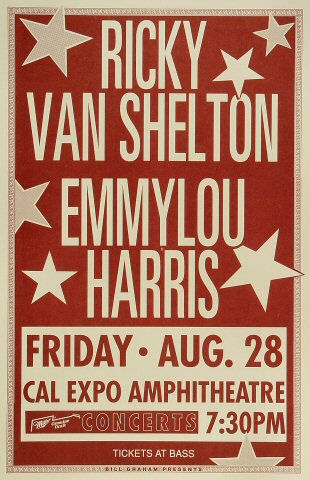 "Ricky Van Shelton Poster from Cal Expo Amphitheater on 28 Aug 92: 11"" x 17"""
