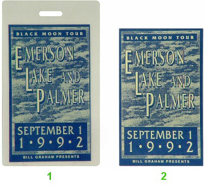 Emerson, Lake & Palmer Laminate from Cal Expo Amphitheater on 01 Sep 92: Laminate 2