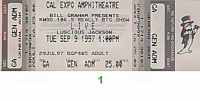 Live 1990s Ticket from Cal Expo Amphitheater on 09 Sep 97: Ticket One