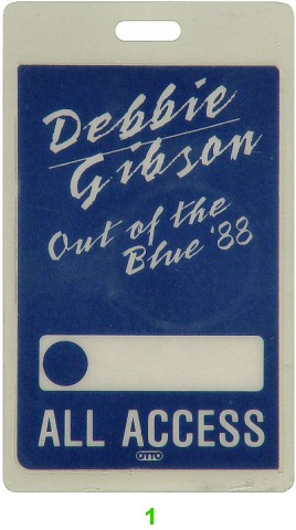 Debbie Gibson Laminate from Concord Pavilion on 05 Aug 88: Laminate 1