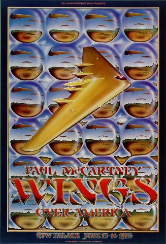 Wings Poster from Cow Palace on 13 Jun 76: 19&quot; x 28&quot;