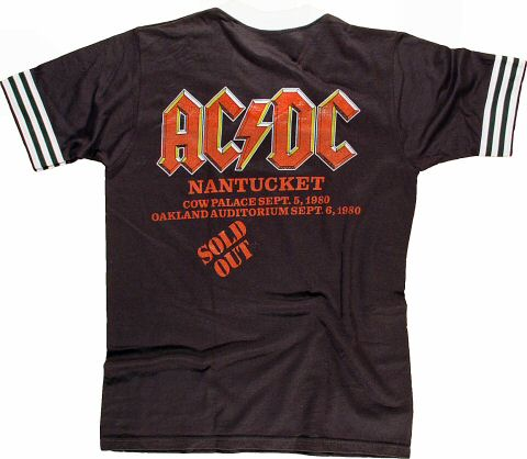 AC/DC Men's Retro T-Shirt from Cow Palace on 05 Sep 80: X Large