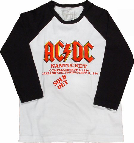 AC/DC Kid's Retro T-Shirt from Cow Palace on 05 Sep 80: Toddler 4