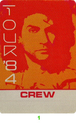 Billy Squier Backstage Pass from Cow Palace on 06 Oct 84: Pass 1