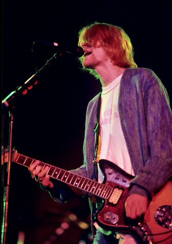 Kurt Cobain BG Archives Print from Cow Palace on 09 Apr 93: 11x14 C-Print