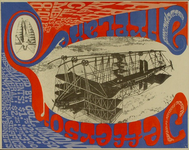 """Jefferson Airplane Poster from Cal Polytechnic on 19 May 67: 14 7/16"""" x 18 1/4"""""""