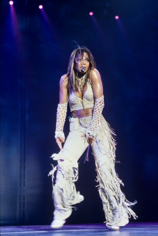 Janet Jackson BG Archives Print from Compaq Center on 10 Oct 01: 11x14 C-Print