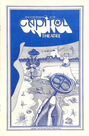 "Outlaws Program from Capitol Theatre on 15 Dec 79: 5 1/2"" x 8 1/2"""