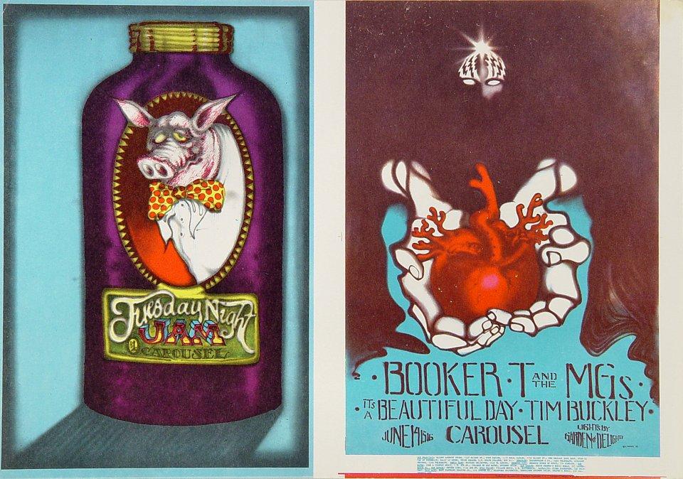 """Booker T. & the MG's Handbill from Carousel Ballroom on 14 Jun 68: 7"""" x 9 7/8"""""""