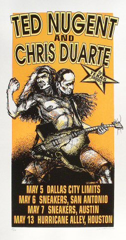 "Ted Nugent Poster from Dallas City Limits on 05 May 94: 14"" x 26"""