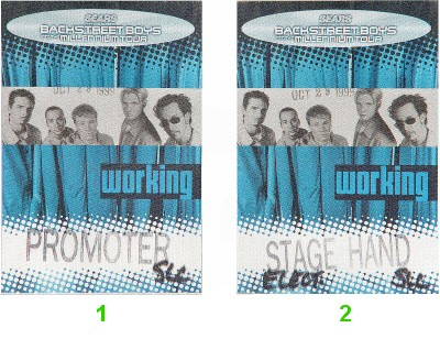 Backstreet Boys Backstage Pass from Delta Center on 29 Oct 99: Pass 2