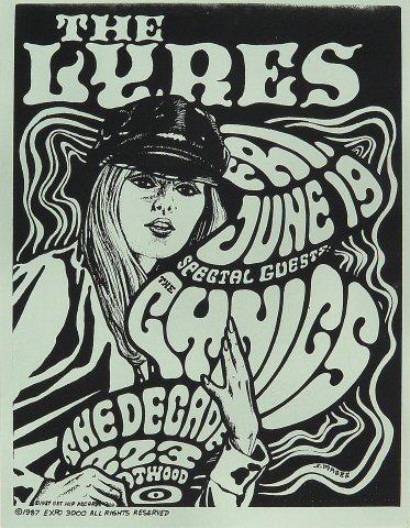 "The Lyres Handbill from Decade on 19 Jun 87: 8 1/2"" x 11"""