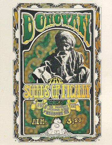 "Donovan Handbill from Freeborn Hall on 19 Nov 67: 8 1/2"" x 11"""