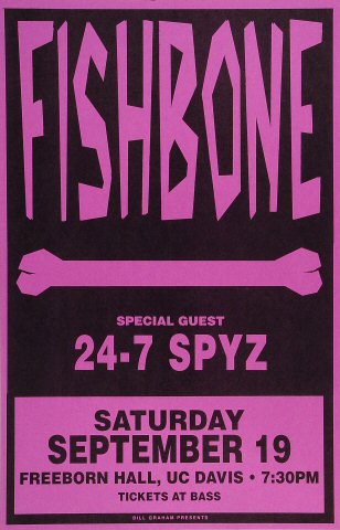 "Fishbone Poster from Freeborn Hall on 19 Sep 92: 11"" x 17"""