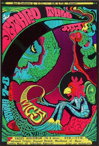 """Jethro Tull Handbill from Eagles Auditorium on 07 Mar 69: 6 3/8"""" x 9 1/4"""""""